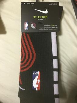BNWT NBA Portland Trail Blazers Socks Nike Elite Crew Men 6-