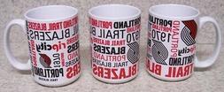 coffee mug sports nba portland trail blazers