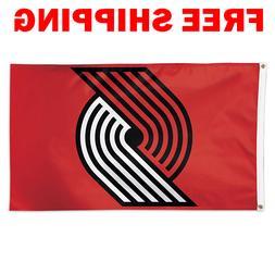 Deluxe Portland Trail Blazers Logo Flag 2018 NBA Basketball