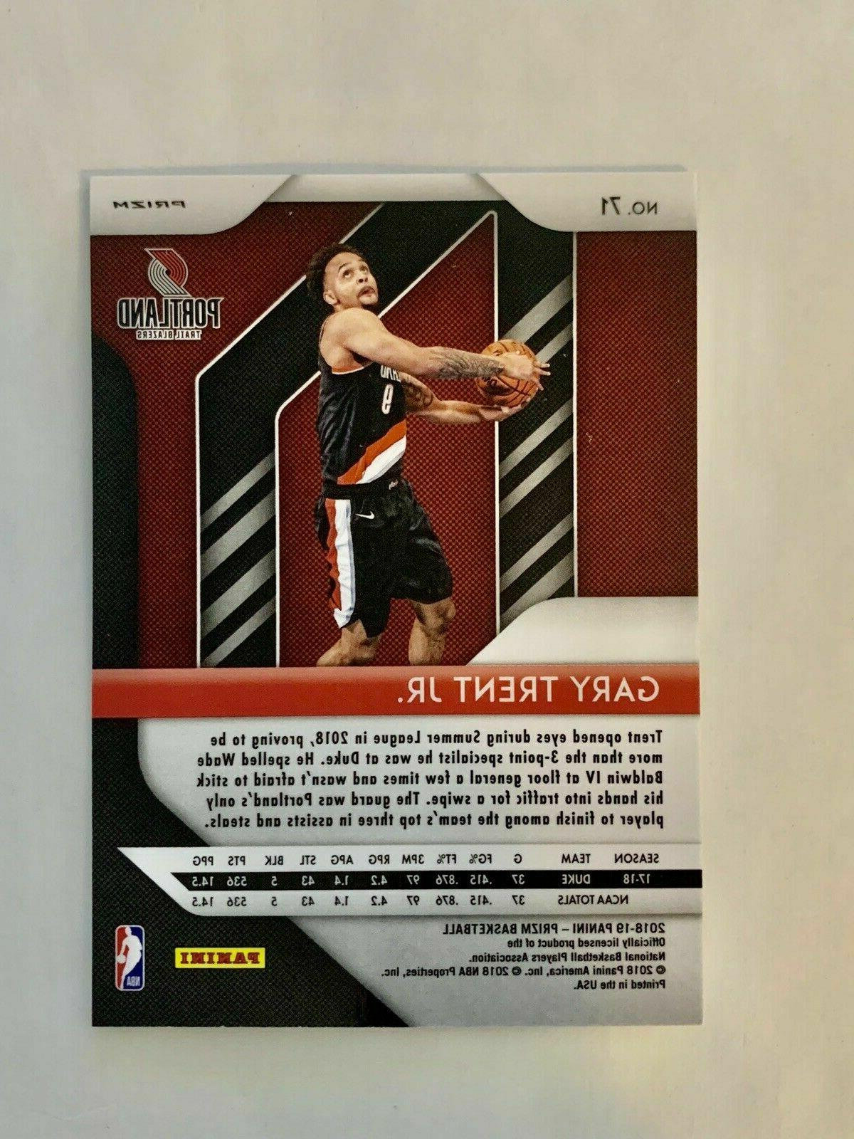 2018-19 Trent Jr RC Portland Trail Blazers Red Hot