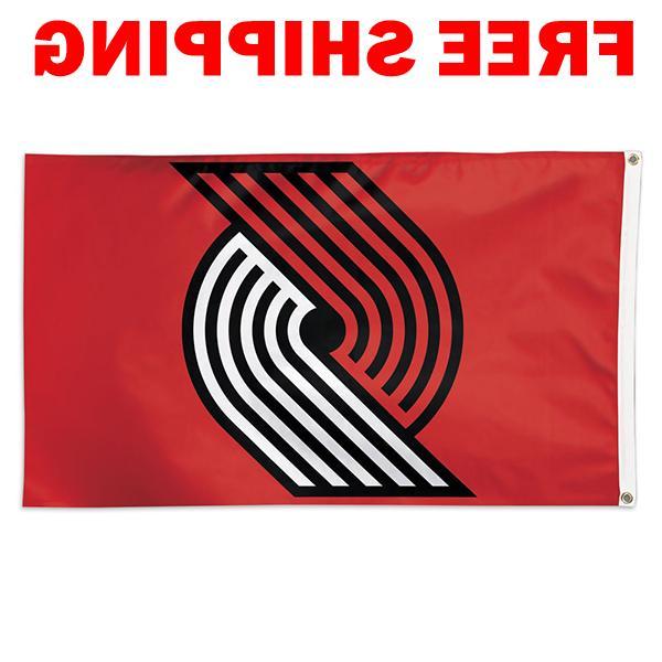 deluxe portland trail blazers logo flag 2018