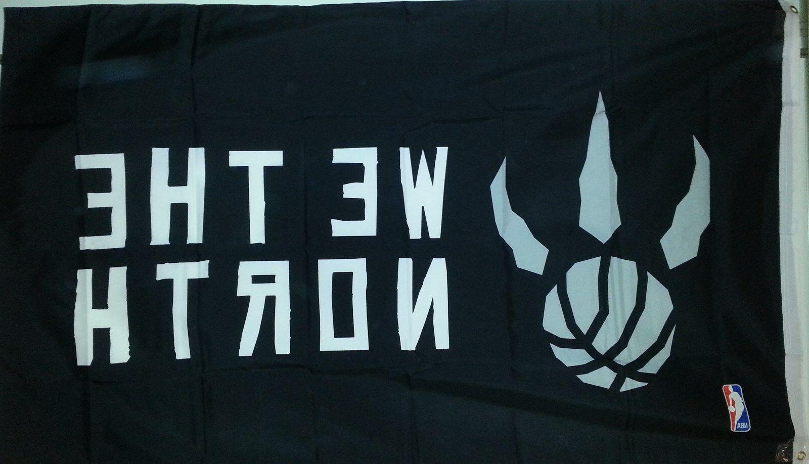 "Licensed RAPTORS & NBA BASKETBALL FLAG BANNER 36""X60"" New"