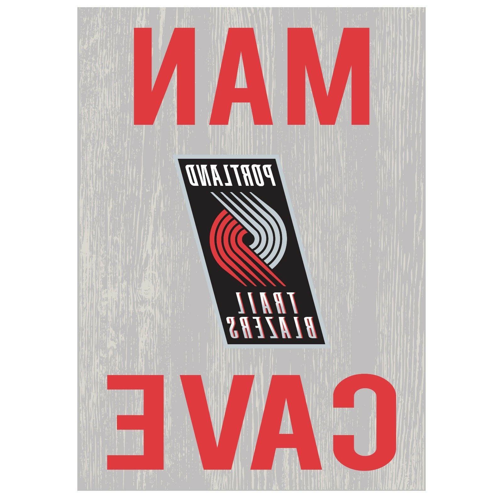 Portland NBA Logo Basketball Cave Decor 1489