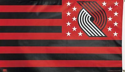 portland trail blazers deluxe nba grommet flag
