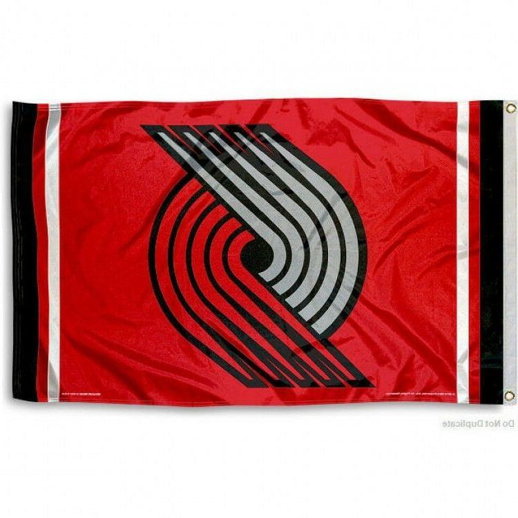 portland trail blazers flag 3 x5 nba