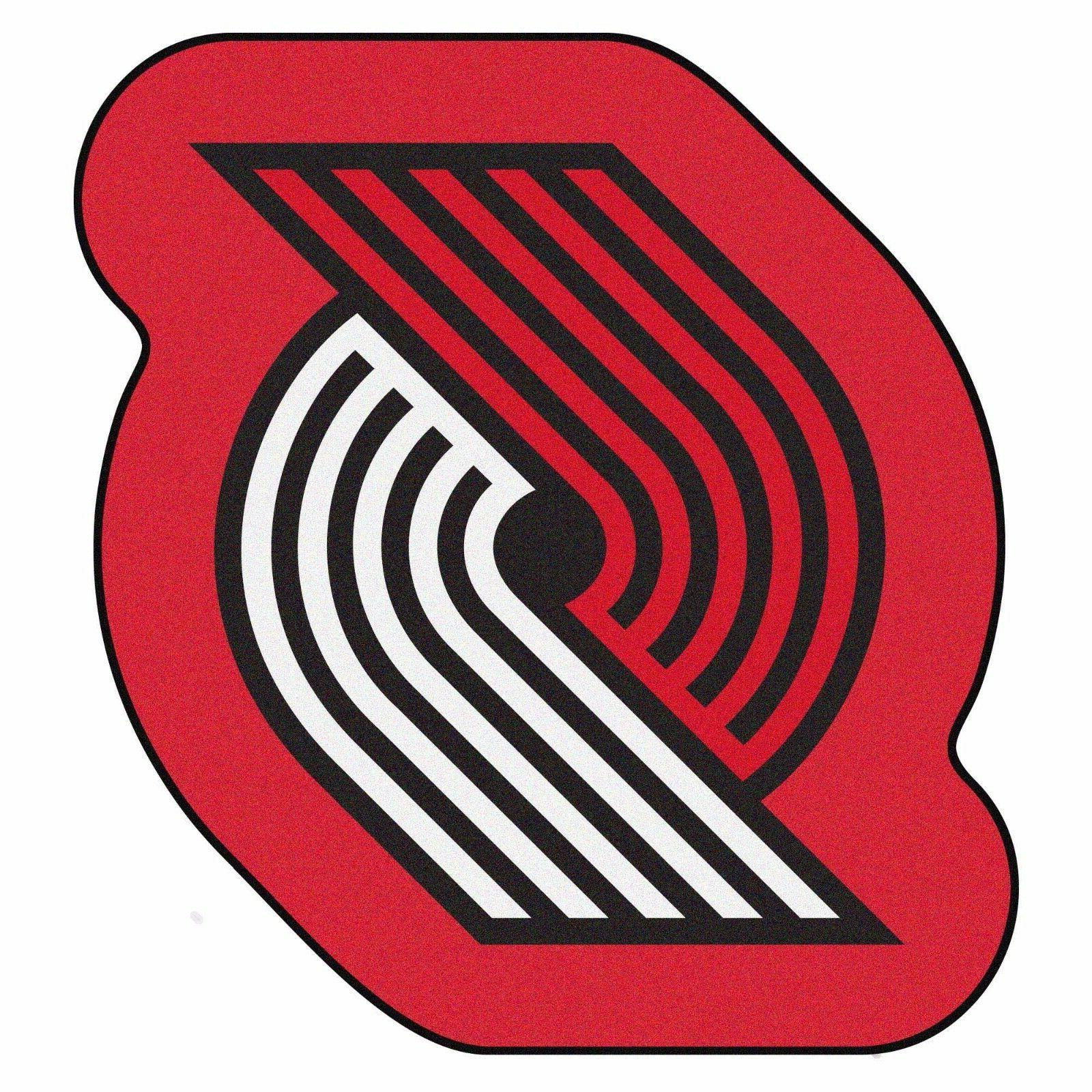 portland trail blazers mascot decorative logo cut