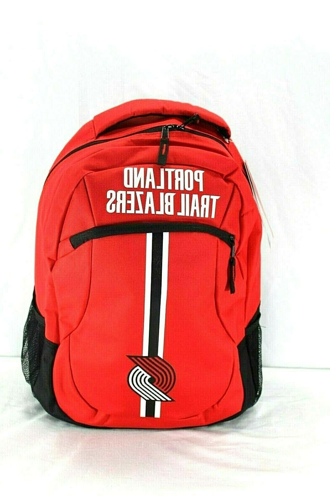 portland trail blazers nba backpack red action