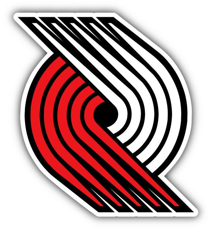 portland trail blazers nba basketball logo car