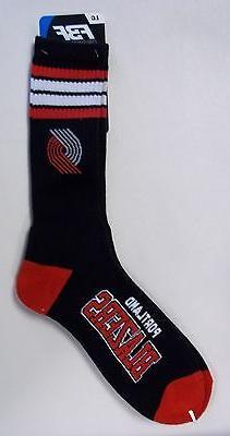 Portland Trailblazers Men's Crew Socks Large Size 10 to 13 4
