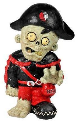 portland trailblazers team thematic zombie figurine new