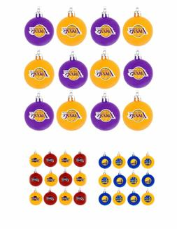 NBA Basketball Team Logo 12 Pack Ball Christmas Ornament Set