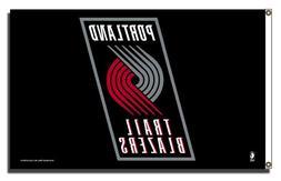 NBA Portland Trailblazers 3-Foot by 5-Foot Banner Flag