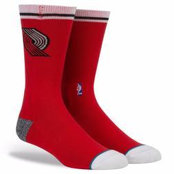 Stance NBA Portland Trailblazers Socks Red Men's Size  Mediu