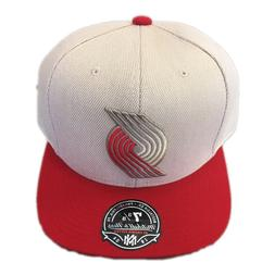 NWT Portland Trail Blazers Mitchell & Ness Oxford Fitted Hat