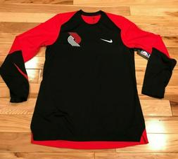 Nike Portland Trail Blazers Dri-Fit Long-Sleeve Shooting Shi