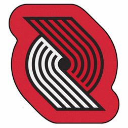 Portland Trail Blazers Mascot Decorative Logo Cut Area Rug F