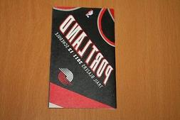 Portland Trail Blazers - NBA Basketball - 2011-12 - Pocket S