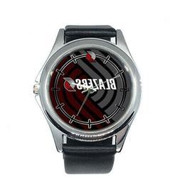 Portland Trail Blazers NBA Round Metal Watch Gift