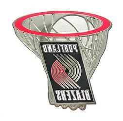 Portland Trail Blazers NBA Silver Net Logo Pin