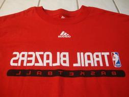 adidas Portland Trail Blazers Red Long Sleeve T-Shirt NBA Me