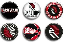 Portland Trail Blazers six 1 inch button sport pin badge bas