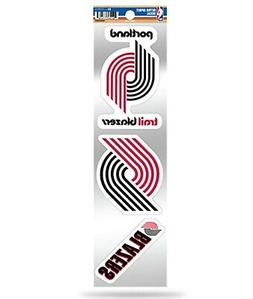 Portland Trail Blazers Triple Retro Throwback Decals Sticker