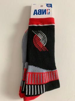 Portland Trailblazers Adult Socks-1pr- Large Brand New Free