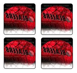 PORTLAND TRAILBLAZERS NBA COASTER & HOLDER SET OF 4 - Gloss