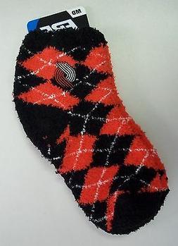 Portland Trailblazers Women's Sleep Soft Socks Medium Size 6