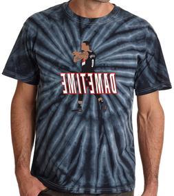 """Tie-Dye Damian Lillard Portland Trail Blazers """"DAME TIME"""" T-"""
